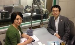 出演の迫田宏治弁護士とパーソナリティーの船越ゆかりアナウンサー