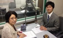 出演の齋藤 健太郎弁護士とパーソナリティーの船越ゆかりアナウンサー