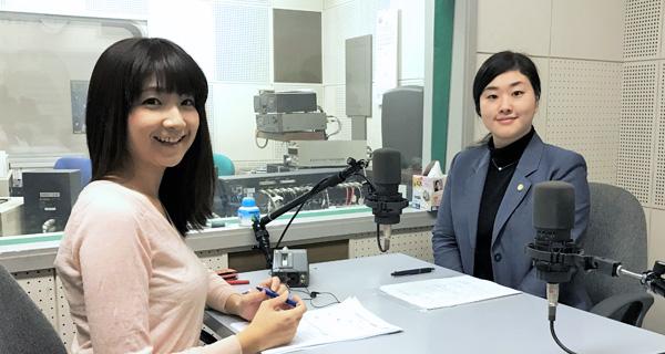 アナウンサーの堰八紗也佳さんと札幌弁護士会 小林杜季子弁護士