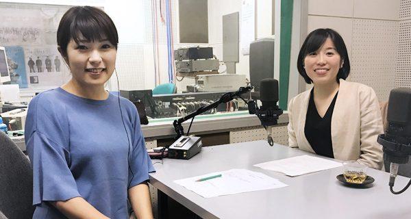 アナウンサーの宮地麻理子さん(左)と札幌弁護士会 桝井妙子弁護士(右)